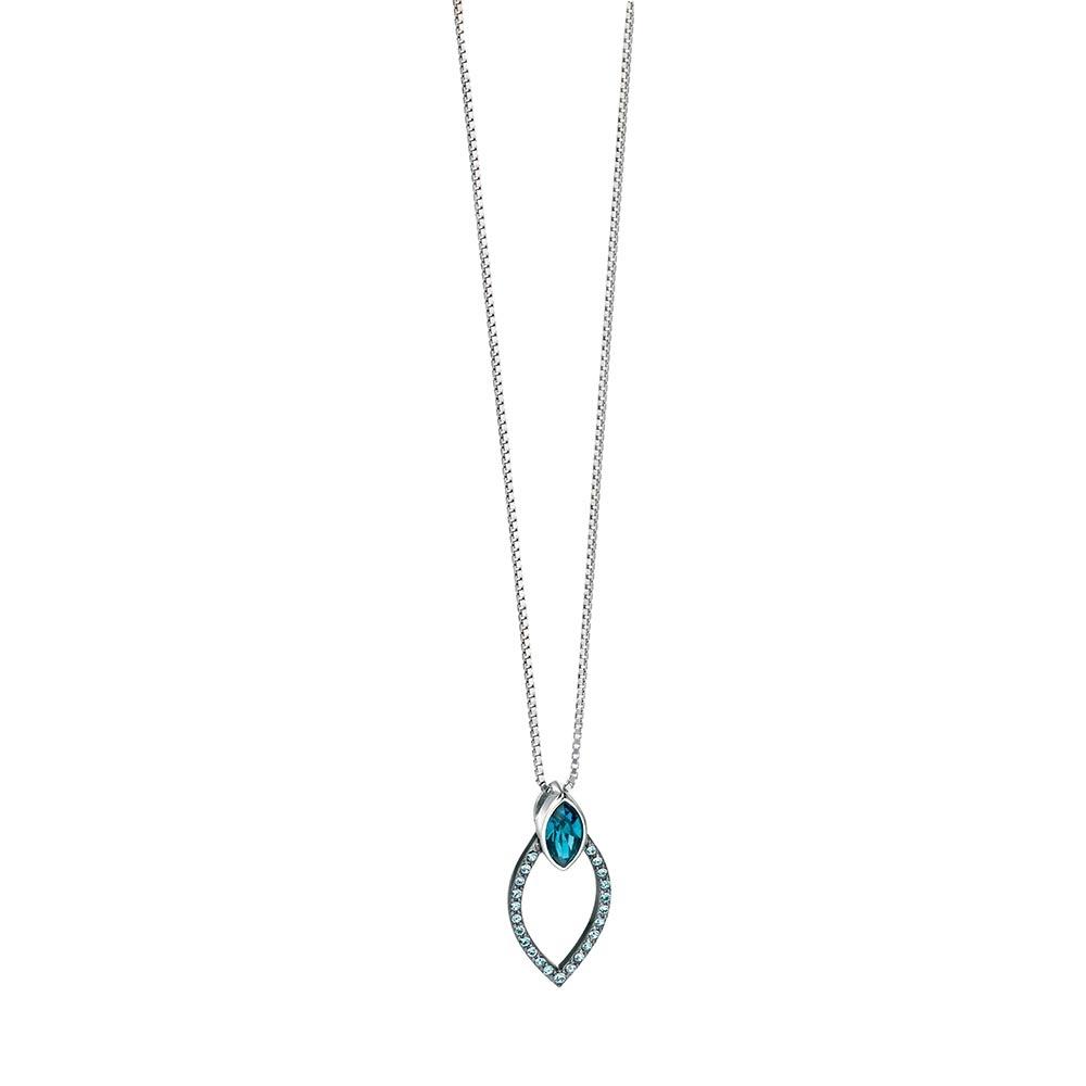 29cff66bdf0 Fiorelli Aqua & Blue Swarovski Crystal Set Silver Pendant Product Code:  P3955T