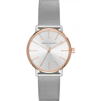 Ladies Bi-Colour Mesh Bracelet Watch