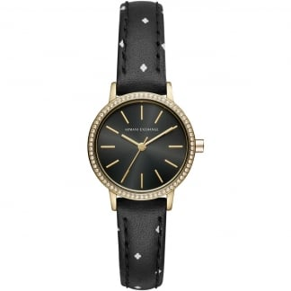 Ladies Crystal Set Trendy Strap Watch