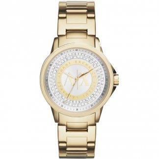 Ladies Glitzy Gold Tone Bracelet Watch AX4321