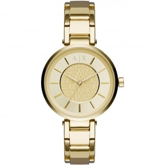 Ladies Gold Plated Bracelet Watch AX5316