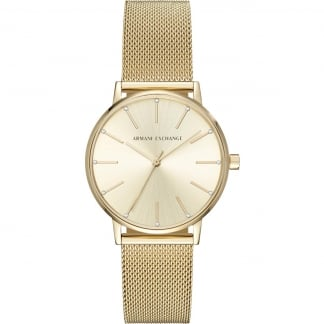 Ladies Gold Mesh Bracelet Watch