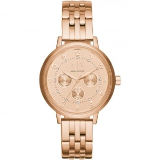 Ladies Rose Gold Multifunction Watch AX5374