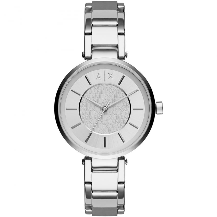 Armani Exchange Ladies Silver Tone Bracelet Watch AX5315