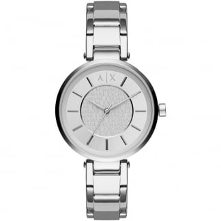 Ladies Silver Tone Bracelet Watch AX5315