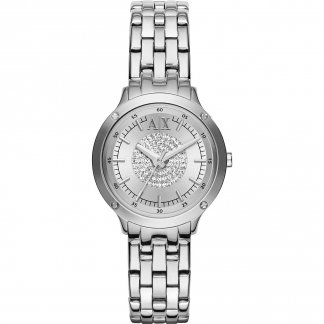 Ladies Stone Encrusted Dial Watch