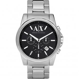Men's Black Chronograph Dial Watch