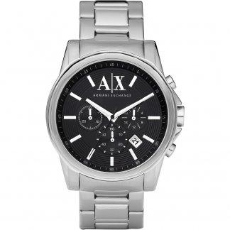 Men's Black Chronograph Dial Watch AX2084