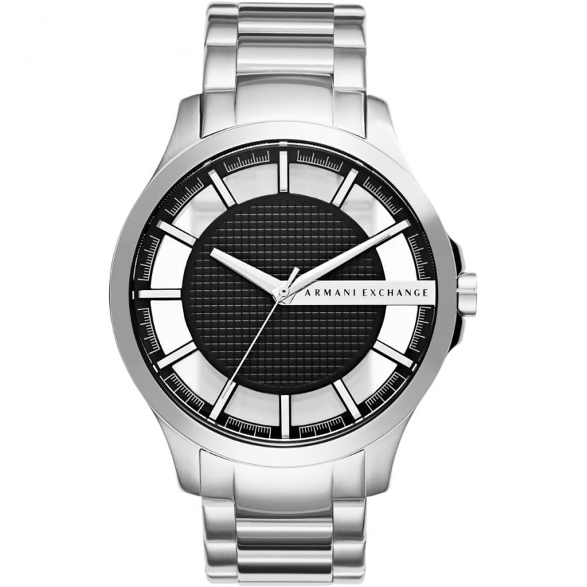 Armani Exchange Men's Black Exhibition Dial Bracelet Watch AX2179