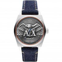Armani Exchange Men's Blue Denim Eagle Motif Dial Watch AX2307