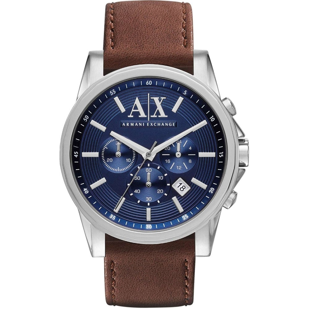 98ae4c7f Men's Blue Dial Brown Strap Chronograph Watch Product Code: AX2501