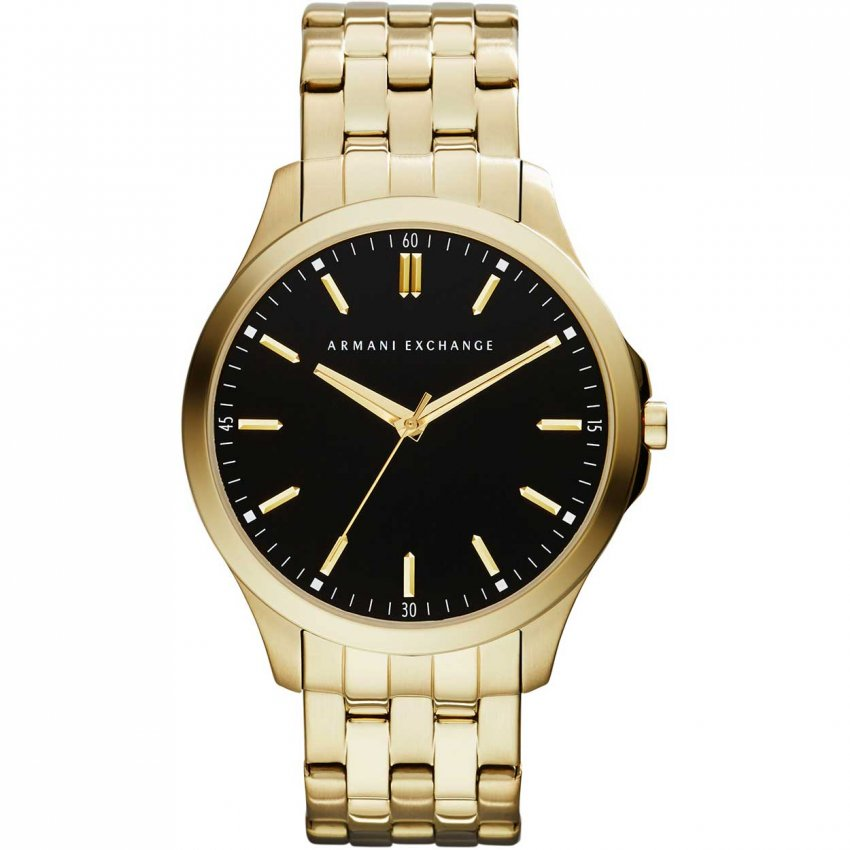 Armani Exchange Men's Gold Tone Ultra Slim Watch AX2145