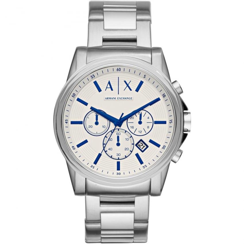 Armani Exchange Men's Outerbanks Silver Tone Chronograph Watch AX2510