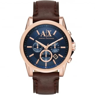 Men's Rose PVD Blue Dial Chronograph Watch