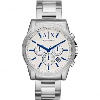 Men's Silver Tone Chronograph Watch AX2510