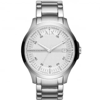 Men's Silver Tone Steel Bracelet Watch