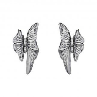 Askill Oxidised Silver Butterfly Earrings 3537845
