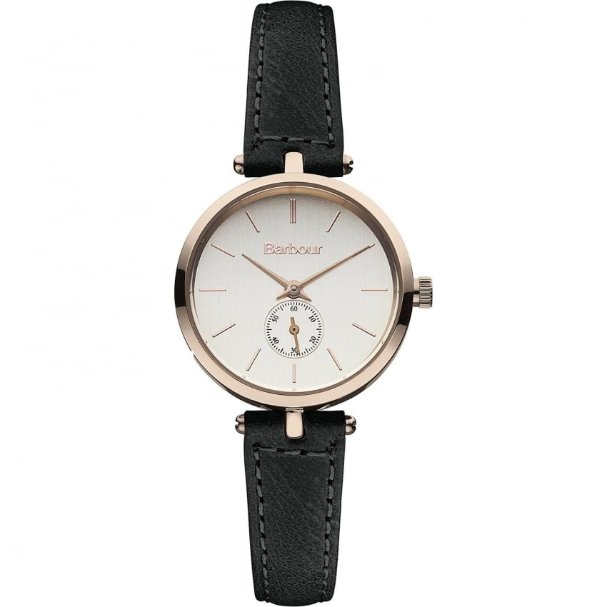 Barbour Ladies Lisle Black Leather Strap Watch BB011RSBK