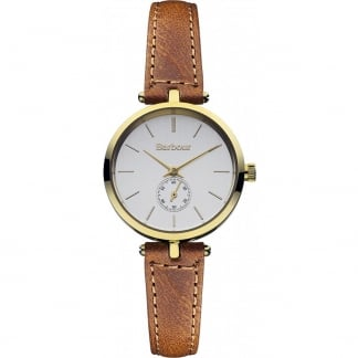 Ladies Lisle Tan Leather Strap Watch BB011GDTN