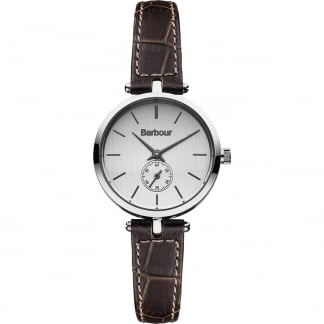 Ladies Lisle Crocodile Effect Leather Strap Watch