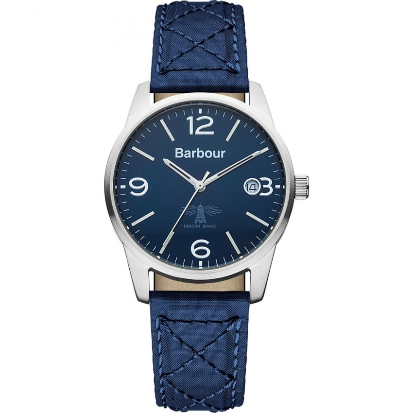 Men's Albany Blue Quilted Strap Watch BB026BLBL