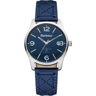 Men's Albany Blue Quilted Strap Watch