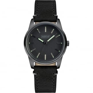 Men's Jarrow Black Leather Strap Watch