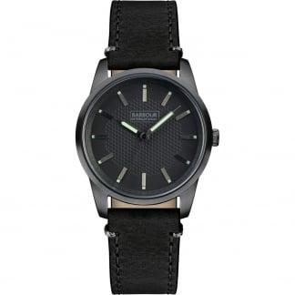 Men's Jarrow Black Leather Strap Watch BB026GNBK