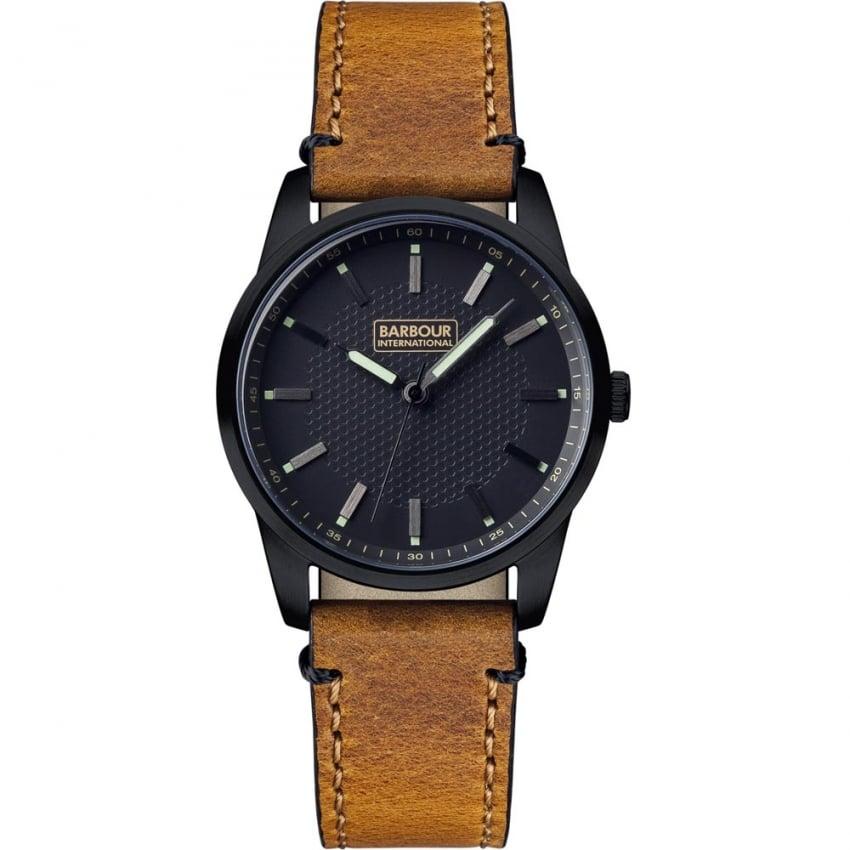 Barbour Men's Jarrow Tan Leather Strap Watch BB026BKTN