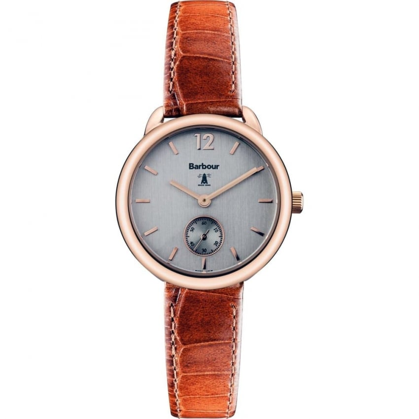 Barbour Whitley Tan Skinny Strap Watch BB035RSTN