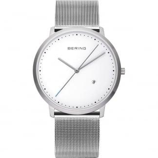 Classic Silver Mesh Bracelet Watch