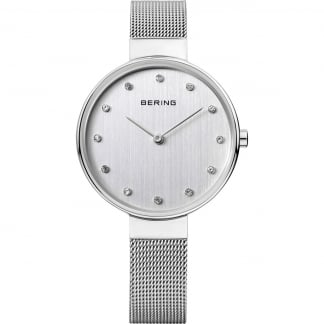 Classic Stainless Steel Silver Dial Ladies Watch