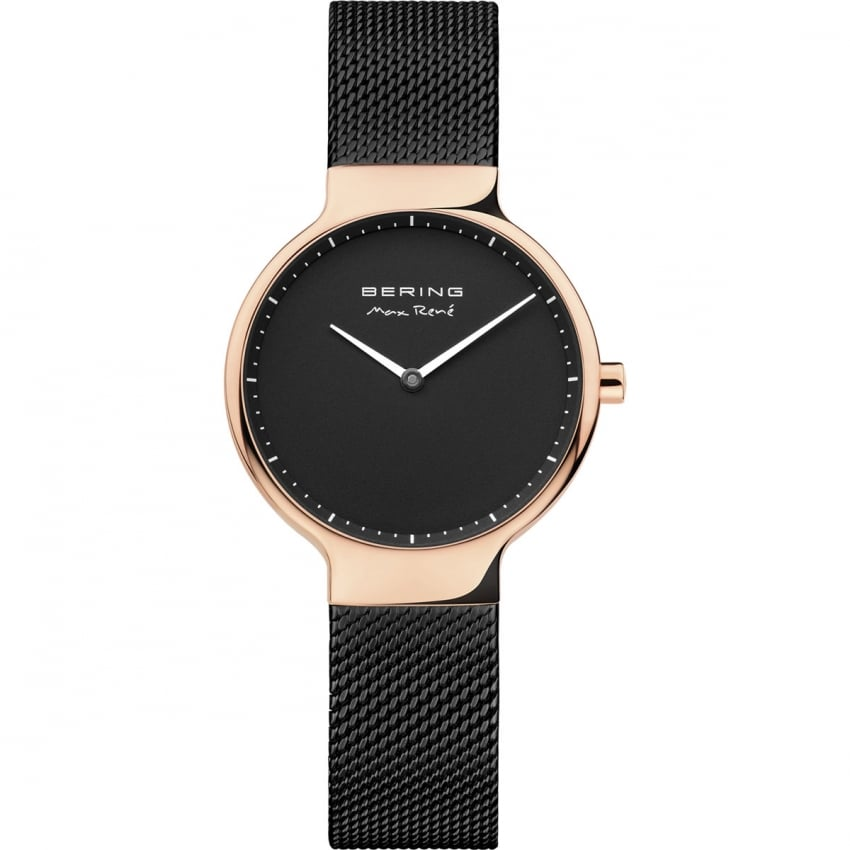 Bering Ladies Black and Rose Gold Max Rene Watch 15531-262