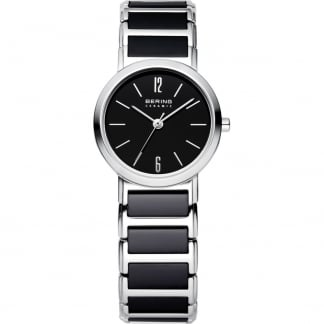 Ladies Black Ceramic & Steel Bracelet Watch