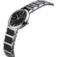 Bering Ladies Black Ceramic & Steel Bracelet Watch 30226-742