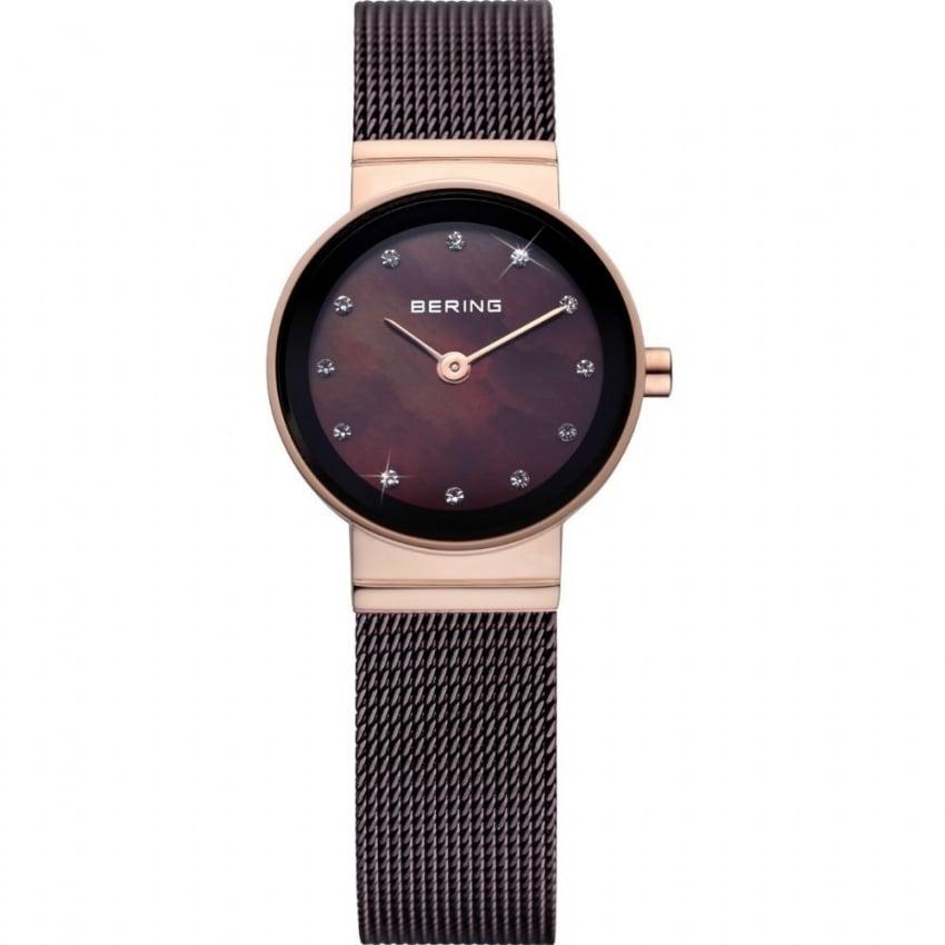 Bering Ladies Brown PVD Plated Quartz Watch 10122-265