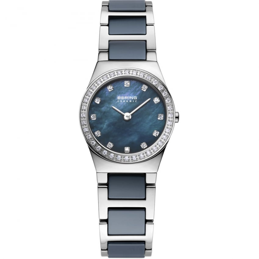 Bering Ladies Swarovski Set Bezel Ceramic & Steel Watch 32426-707