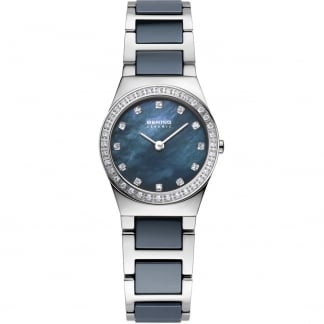 Ladies Swarovski Set Bezel Ceramic & Steel Watch