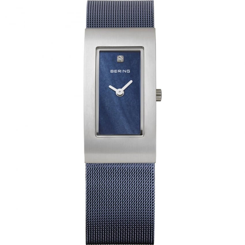 Bering Ladies Classic Blue Mesh Bracelet Watch 10817-307