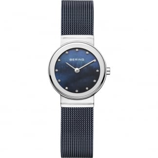 Ladies Classic Blue Mesh Bracelet Watch