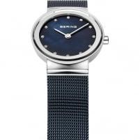 Bering Ladies Classic Blue Mesh Bracelet Watch 10126-307