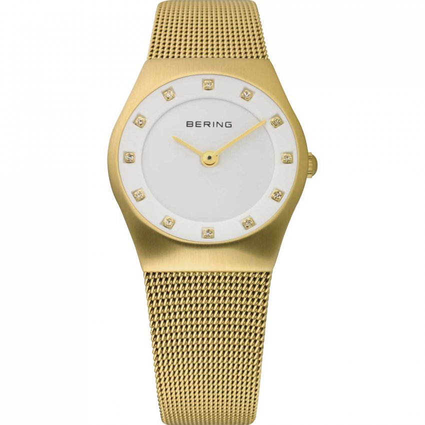 Bering Ladies Gold Plated Classic Milanese Watch 11927-334