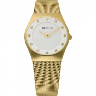 Ladies Gold Plated Classic Milanese Watch