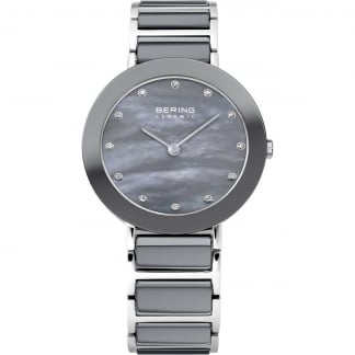 Ladies Grey Ceramic & Steel Watch