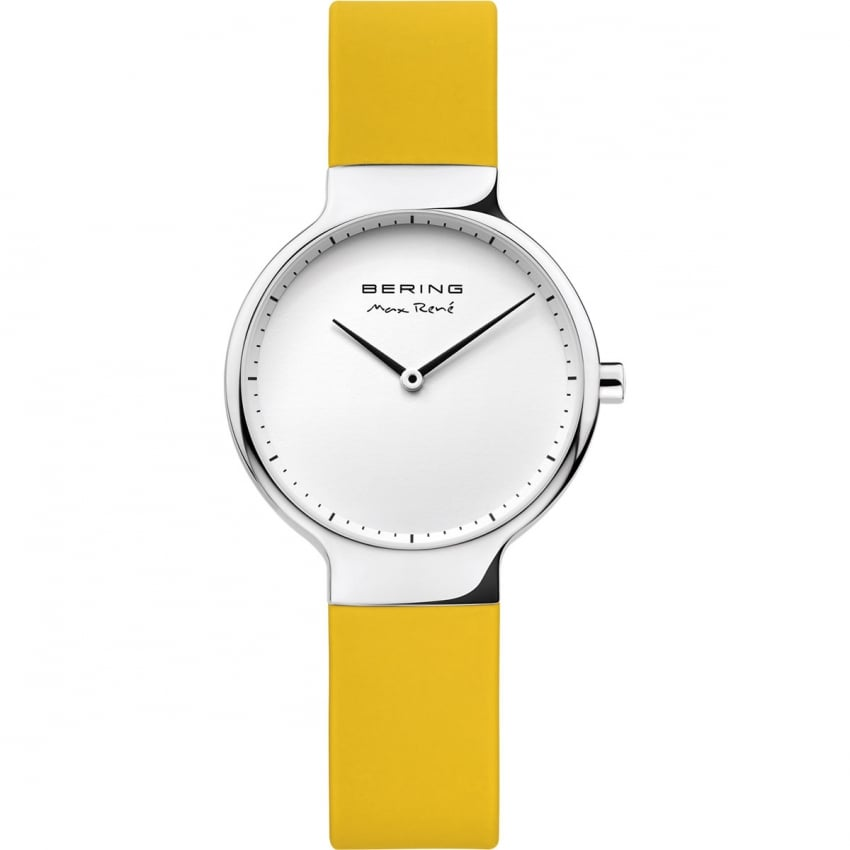 Ladies Max Rene Yellow Rubber Strap Watch 15531-600