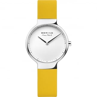 Ladies Max Rene Yellow Rubber Strap Watch
