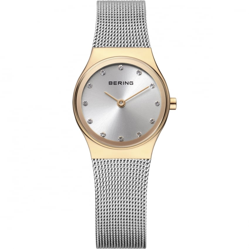 Ladies Mesh Bracelet Silver and Gold Watch 12924-001