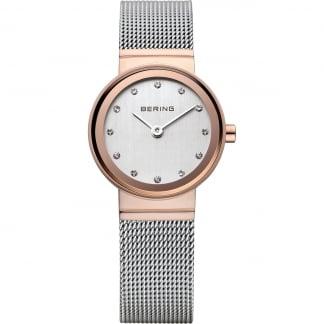 Ladies Two Tone Classic Mesh Bracelet Watch 10126-066