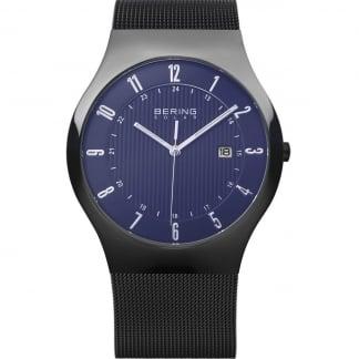 Men's Black Milanese Solar Watch 14640-227