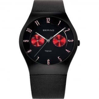 Men's Black Titanium Day/Date Watch